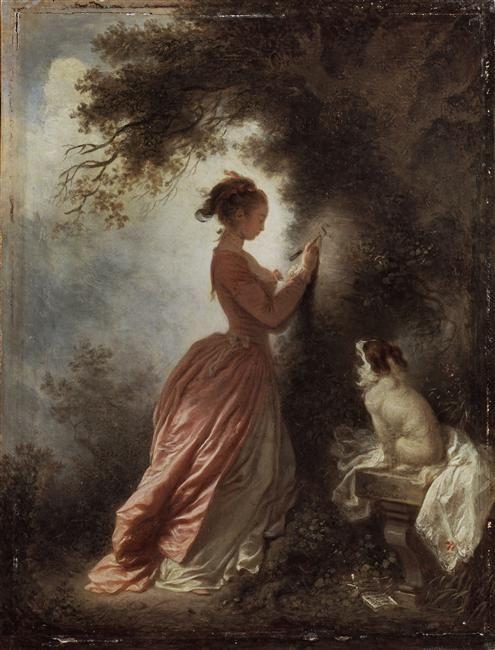 Le Chiffre d'amour. Vers 1776/1778  Fragonard, Jean-Honoré