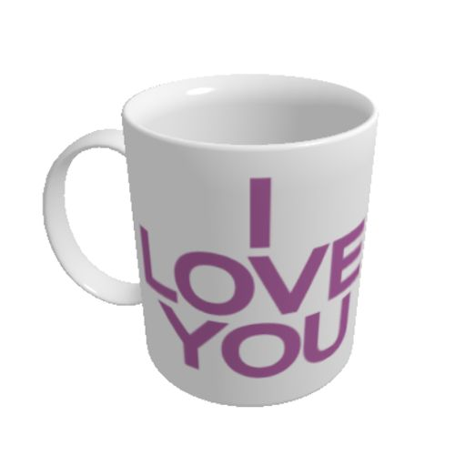 "Cana I love you    Cana personalizata cu mesajul ""I love you"", o declaratie de dragoste pe care oricine o intelege. Daca doriti, puteti adauga si propriul dvs. text pe cana."