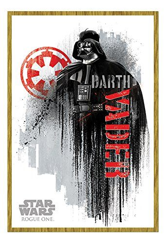 Star Wars Rogue One Darth Vader Grunge Poster Oak Framed  Satin Matt Laminated  965 x 66 cms Approx 38 x 26 inches * You can find more details by visiting the image link.