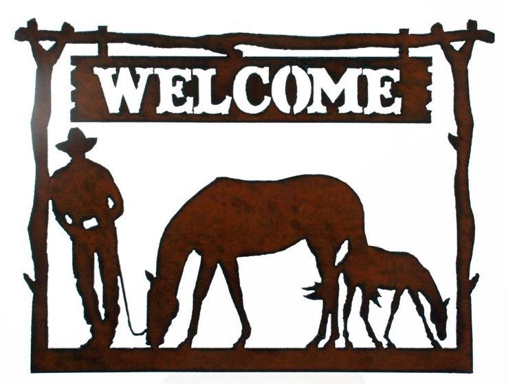 Western Home Decor Rustic Metal Welcome Sign Cowboy Horse Dear Future Home Pinterest