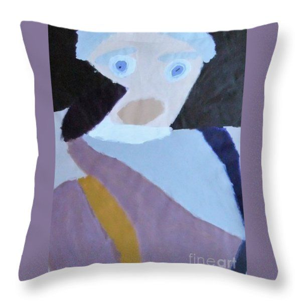 Patrick Francis Throw Pillow featuring the painting Portrait Of A Lady 2014 by Patrick Francis