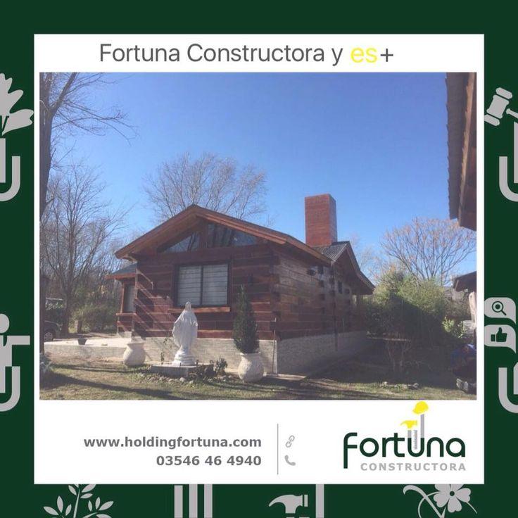 Fortuna Constructora y es+ Construcción en madera de Quebracho.  #FortunaConstructora  #HoldingFortuna
