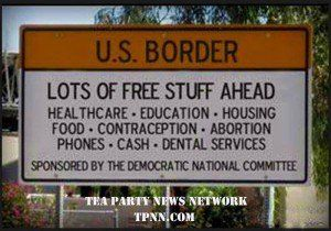 """Anti-immigration meme from the page """"The Tea Party"""" on Facebook. http://www.forwardprogressives.com/the-5-worst-conservative-memes-of-the-week/"""