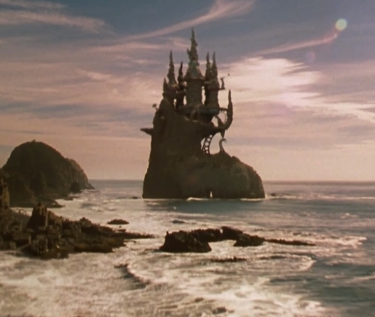 Floop's castle from Spy Kids. such an interesting place.