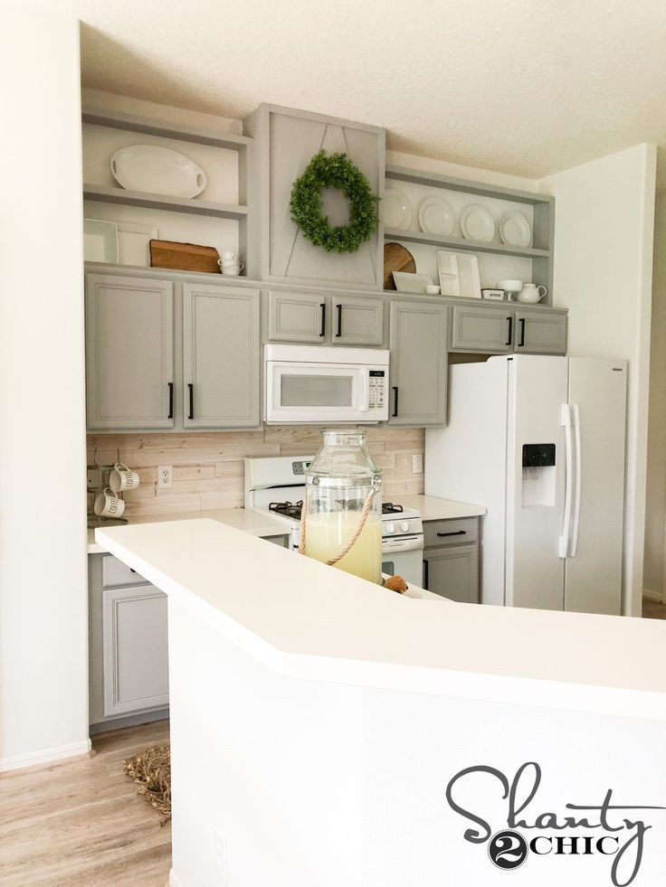 How To Make Cabinets Taller Shanty S Tutorials Farmhouse Kitchen