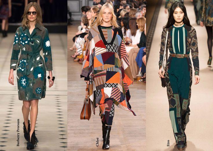 FW15 trends / Női divat 2015 ősz tél / Patchwork