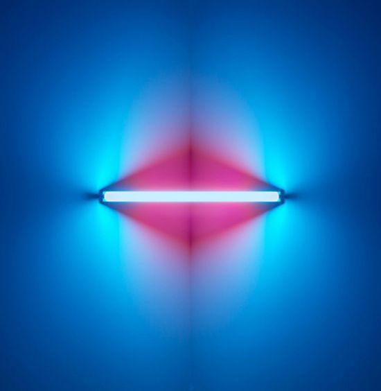 Dan Flavin. Art Pink Blue Light