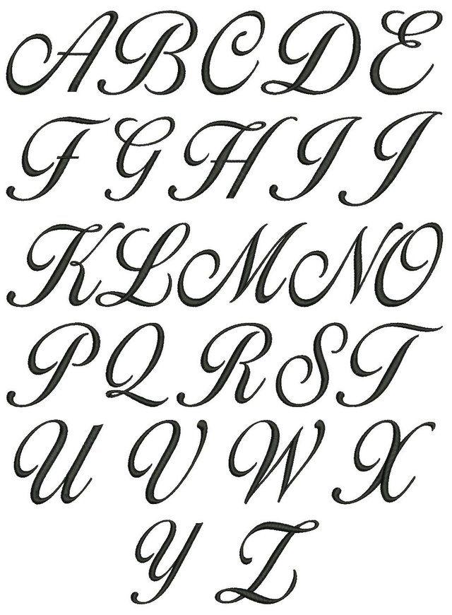No 120 Lara Script 3 Letter Monogram Designs 1 5 Inch High Cursive Calligraphy Cursive Fonts Alphabet Tattoo Fonts Alphabet
