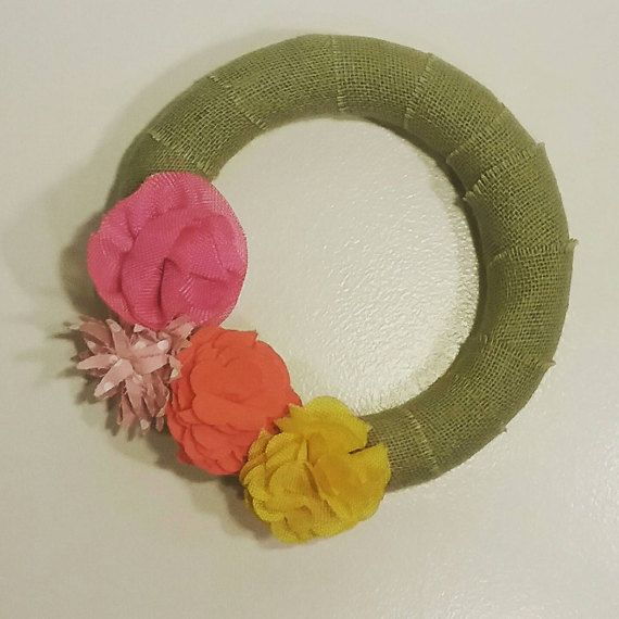 Check out this item in my Etsy shop https://www.etsy.com/listing/502112096/spring-burlap-wrapped-wreath