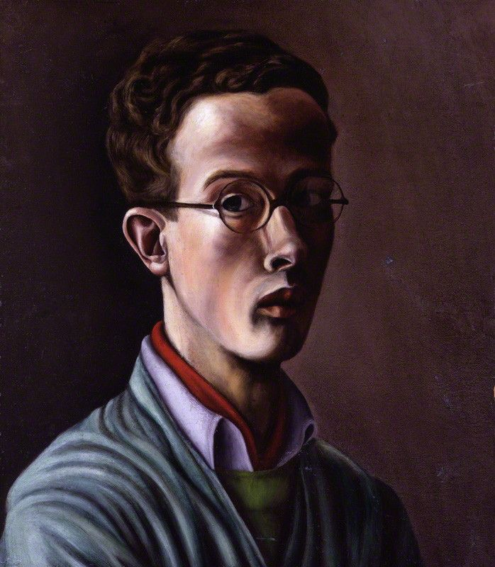 Self portrait by (Maurice) Denton Welch, oil on hardboard, circa 1940-1942, National Portrait Gallery // FacePaint