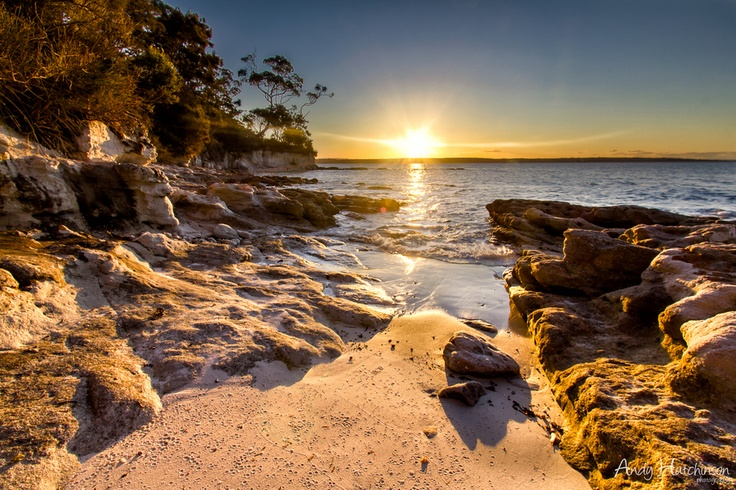 Sunset in Jervis Bay, South Coast NSW, Australia.