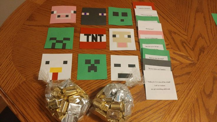 I made my own minecraft scavenger hunt!