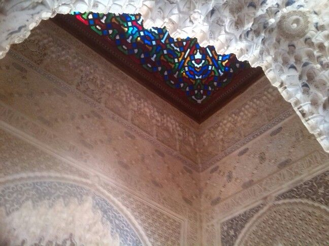 Beautiful roof in one of the palaces. Alhambra Spain