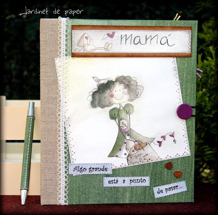 Jardinet de paper: Agenda de embarazo personalizada