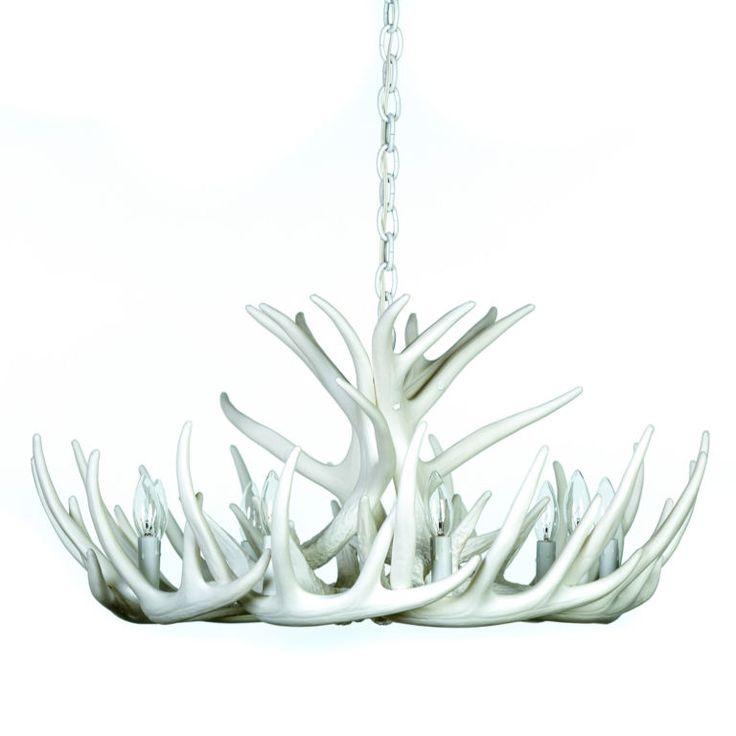 54 best modern decorating images on pinterest antlers antler pure white whitetail 12 cast cascade antler chandelier aloadofball Images
