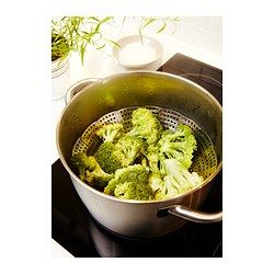 IKEA - STABIL, Steamer insert, The handle can be detached, which makes it easier to lift the pot as the handle doesn't get hot.Can be used with most 2-5 quart pots and saucepans without non-stick coating on the interior.
