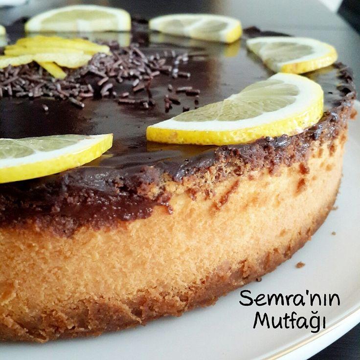Çikolatalı Limonlu Cheesecake
