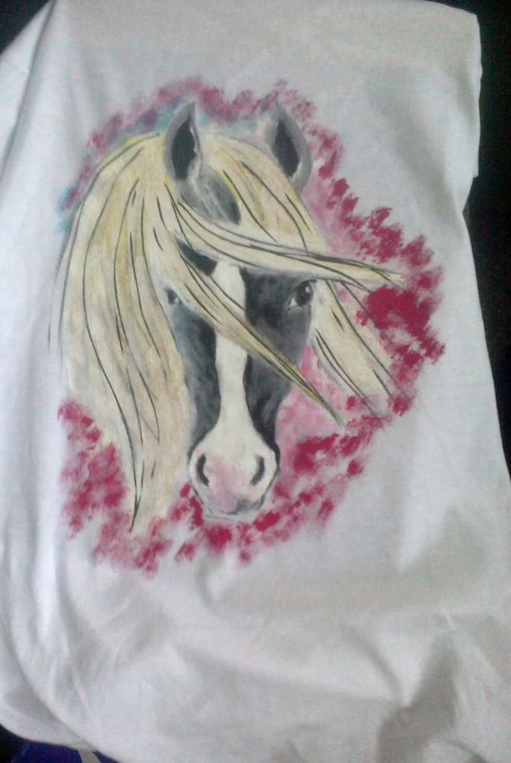 Horse painted on t-shirt
