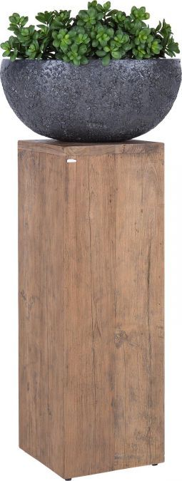 Zuil Pillar is een fraaie zuil, vervaardigd uit massief Driftwood. Driftwood is een oud, hergebruikt teakhout. Hierdoor krijgt Pillar een geheel eigen karakter, wat ook zijn invloed op uw interieur zal hebben! Pillar heeft een hoogte van 100cm, zodat u het voor talloze toepassingen kunt gebruiken. In combinatie met een mooie vaas met bloemen zal dit bijvoorbeeld een regelrechte blikvanger worden!