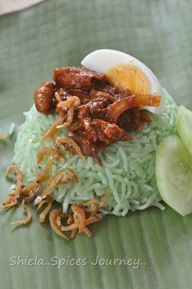 Spices Journey: NASI LEMAK PANDAN BERHALBA BUNGKUS DAUN PISANG.. G...