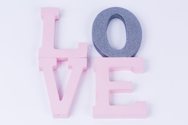 We're all about the love using Rust-Oleum Candy Pink and Glitter Silver. Glue letters to each other, add a small hook and hang. A super easy project becomes a heartfelt expression of self.
