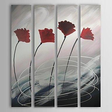 Met de hand geschilderde olieverf Abstract Oversized Tall Set van 4 – EUR € 98.99