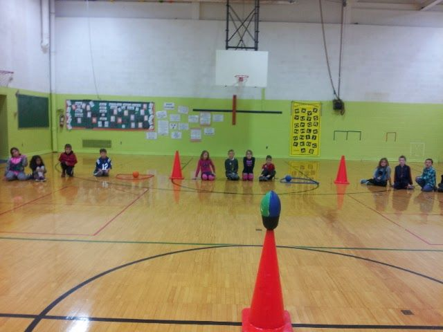 A great fast paced game that infuses two levels of competition, running and throwing. Students are split into teams. Team members are number...