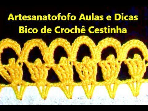 Bico em crochê Cestinha - CROCHÊ 23 - (INICIANTES)
