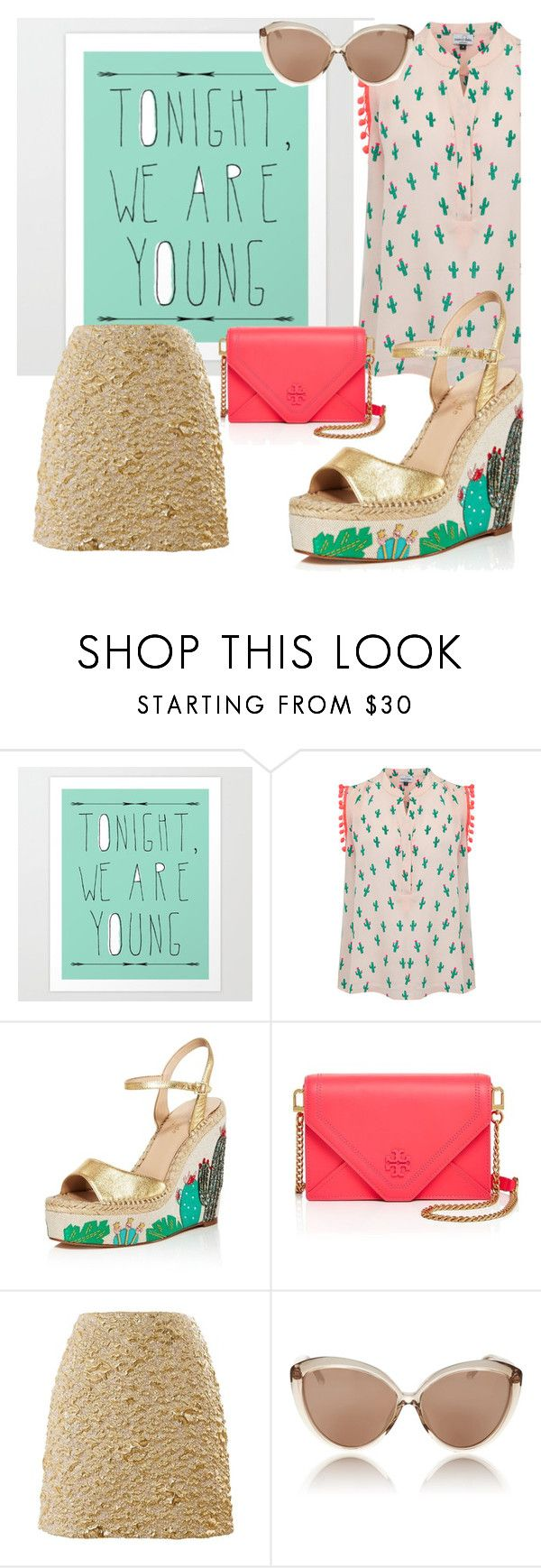 """""""The sweet cactus"""" by tharusmiles ❤ liked on Polyvore featuring Mercy Delta, Kate Spade, Tory Burch, Kenzo and Linda Farrow"""