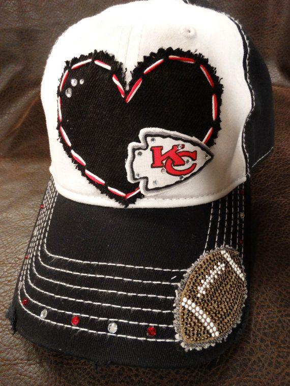LOVE KC Chiefs Bling Baseball cap by BlingirlSpirit on Etsy
