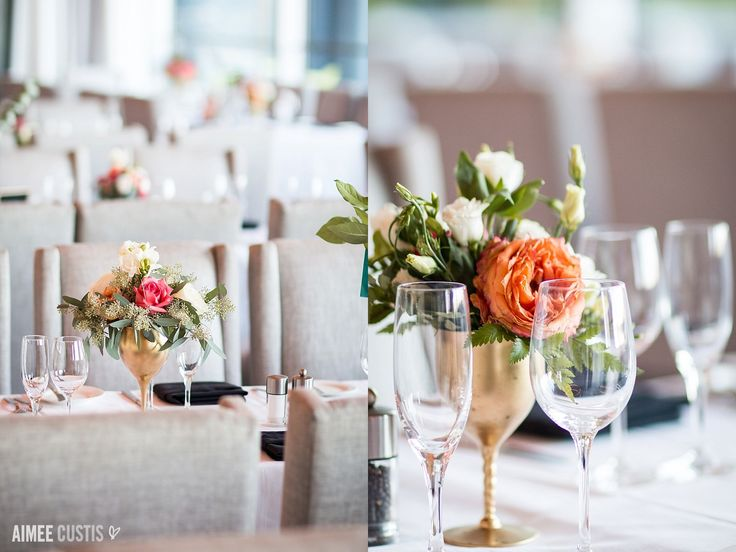 pink and coral and gold everywhere! | reception details | Allie + Elliot's glam urban Arlington, VA wedding