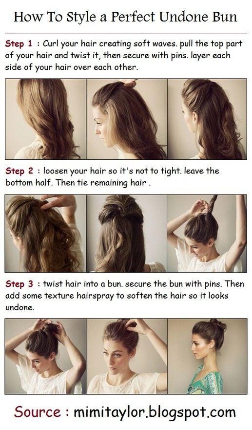 Messy bun for long hair So easy ✌️