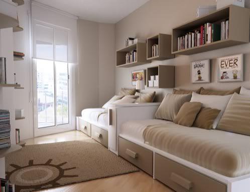 M s de 25 ideas incre bles sobre habitaciones peque as en - Amueblar habitacion pequena ...