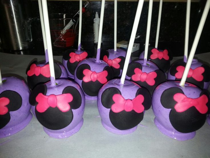 Purple minnie mouse candy apples items fit for a