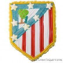 Tarta de chuches escudo Atlético de Madrid