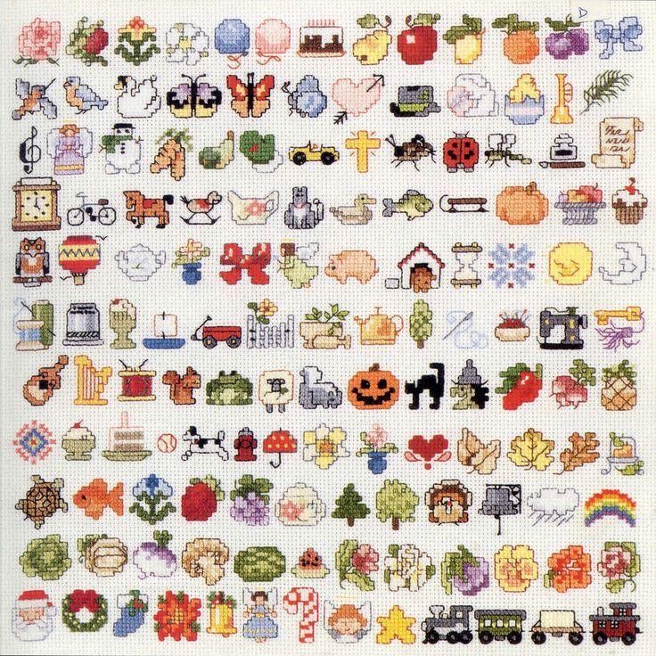 .cute cross stitch motifs