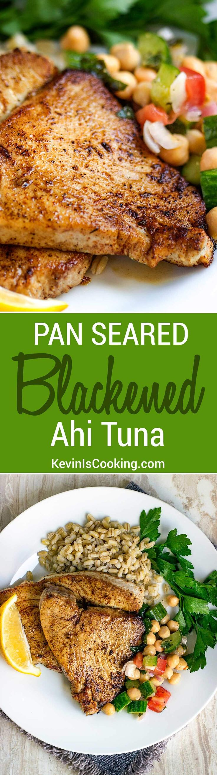 This Pan Seared Blackened Ahi Tuna is a family go to for a quick and healthy dinner. Just the right amount of spice and heat, too!