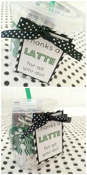 Thanks a Latte Gift // Life Anchored #teacherappreciation                                                                                                                                                                                 More