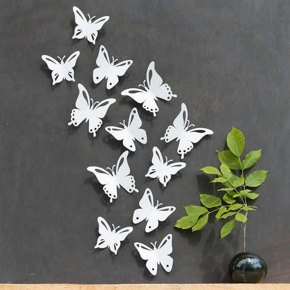 25 best ideas about butterfly wall decor on pinterest for White paper butterflies
