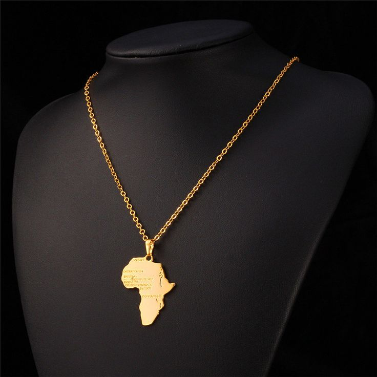 Africa Pendant 2015 New Platinum/18K Real Gold Plated Unisex Women/Men Fashion African Map Pendant Necklace Hiphop Jewelry