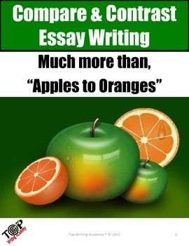 How to make compare and contrast essay