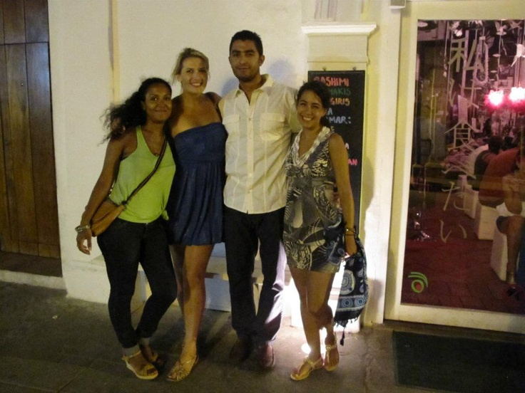 @ Tabetai. With: Salma (German/Tanzania), Kristy (Australia) and Shelly (Israel)
