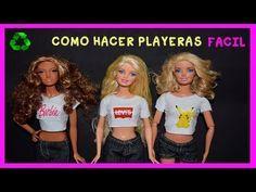EPISODIO65.COMO HACER UNA BLUSA PARA TUS MUÑECAS BARBIE, MONSTER HIGH, BRATZ - YouTube