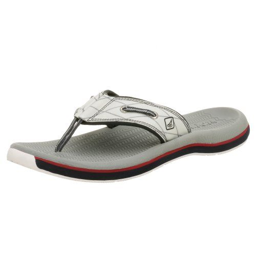 Sperry Top-Sider Men's Santa Cruz Thong -  	     	              	Price: $  55.00             	View Available Sizes & Colors (Prices May Vary)        	Buy It Now              Santa       Cruz Thongs...Superior Sandals!    This trendy thong sandal       includes contrast colored stitching, laced side details with logo metal eyelets, ...