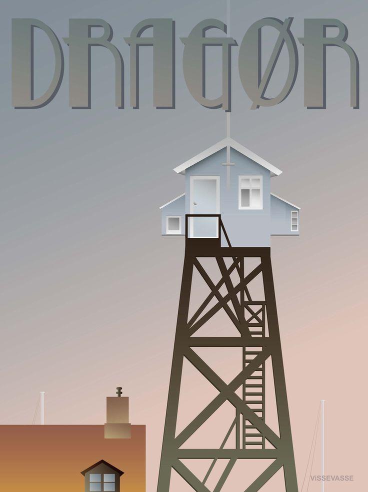 DRAGØR Lodstårnet - plakat