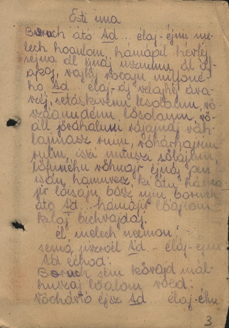 Handwritten Transcription Of Prayers Convinced That No Jew Would Survive The Holocaust Dita Considered