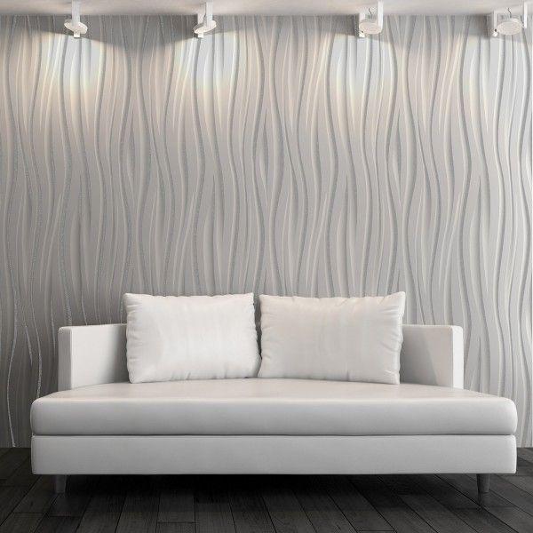 Wave Grey Wallpaper   Striped Wallpaper   Vymura