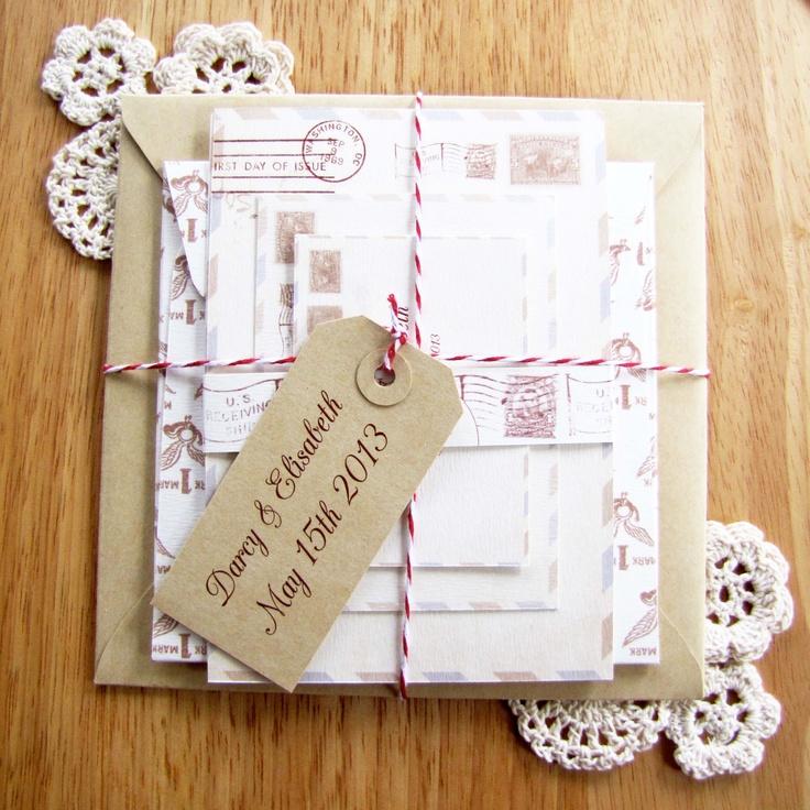 Sutherland Design's Vintage Postal Themed Wedding Package