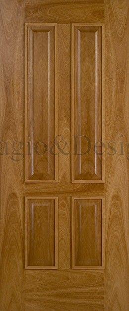 puerta de entrada tablero decorado en color cedro