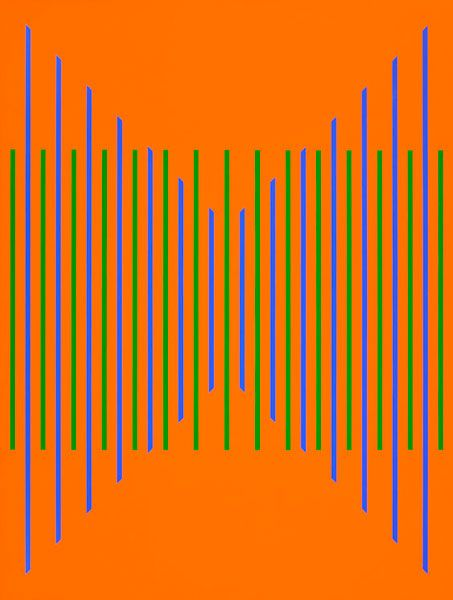 KARL BENJAMIN | #22, 1976; oil on canvas; 59 1/4 x 44 1/2 inches